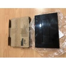 VÝPRODEJ ALCAPLAST Ovládací tlačítko splachovací - vkládané M1375 (černá-mat), ROZBALENO!!!