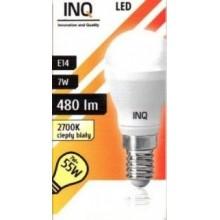 INQ LED žárovka, E14 ilum.7W P20, teplá bílá IN712520
