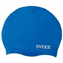 INTEX Silikonová plavecká čepice, modrá, věk 8+ 55991