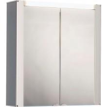 JOKEY TROMSÖ Zrcadlová skříňka - bílá / čelo aluoptika