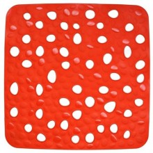 KELA Podložka do sprchy protiskluzová Nevada červená KL-22145