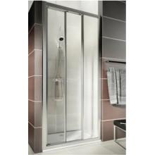 KOLO First posuvné dveře 3-dílné 90 cm, do niky nebo pro kombinaci s pevnou boční stěnou, čiré ZDRS90222003