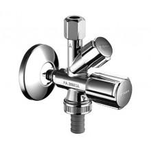 """Schell Comfort - Kombinovaný rohový ventil, chrom 1/2""""x3/4""""x3/8"""" 035510699"""