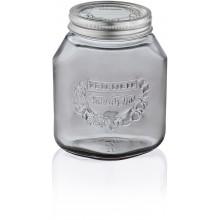 LEIFHEIT Set 3 ks zavařovacích sklenic 1 l smoky grey 36327