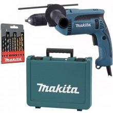 MAKITA HP1641K1X Příklepová vrtačka s kufrem,rychlosklíčidlo 1,5-13mm, 680W