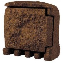 PANLUX STONE 4Z zahradní elektro- kámen (4x zásuvka, s přívodním kabelem) - hnědá PN42000002
