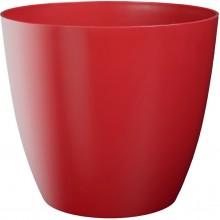 PLASTKON Dekorativní květináč Ella matný 11 cm červená