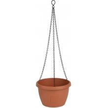 PLASTKON Samozavlažovací závěsný květináč Marina 25 cm terakota