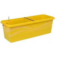 PLASTKON Samozavlažovací truhlík Smart Systém Gardenie 80 cm žlutá