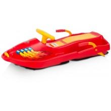 PLASTKON Řiditelný bob Snow Boat červená
