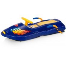 PLASTKON Řiditelný bob Snow Boat modrá