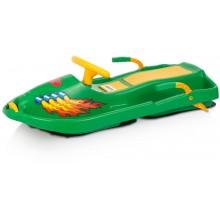 PLASTKON Řiditelný bob Snow Boat zelená