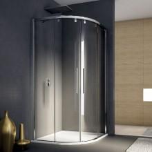 RONAL PLSR Pur Light S čtvrtkruh, posuvné dveře, 100cm,R 50cm, bílá/sklo čiré PLSR501000407