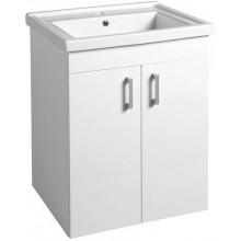 AQUALINE POLY umyvadlová skříňka 56x74,6x46,5cm, bílá PL062