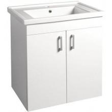 AQUALINE POLY umyvadlová skříňka 66x74,6x46,5 cm, bílá PL072