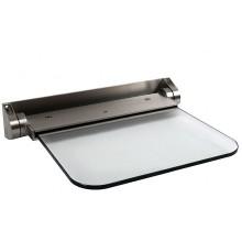 REMING Sklopné nerezové sedátko, skleněné ALT6