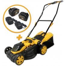Riwall PRO RALM 3820 set akumulátorová travní sekačka + 2x 4Ah baterie + 2x nabíječka 20 V AM18E2001003B
