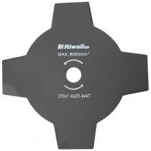 Riwall PRO Žací nůž čtyřzubý ke křovinořezu pr. 255mm, vnitřní průměr 25,4mm, tloušťka 1,4mm RACC00027