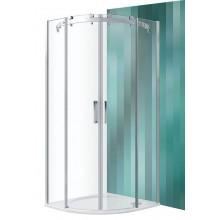 ROLTECHNIK Čtvrtkruhový sprchový kout s dvoudílnými posuvnými dveřmi AMR2N/900 brillant/transparent 624-9000000-00-02