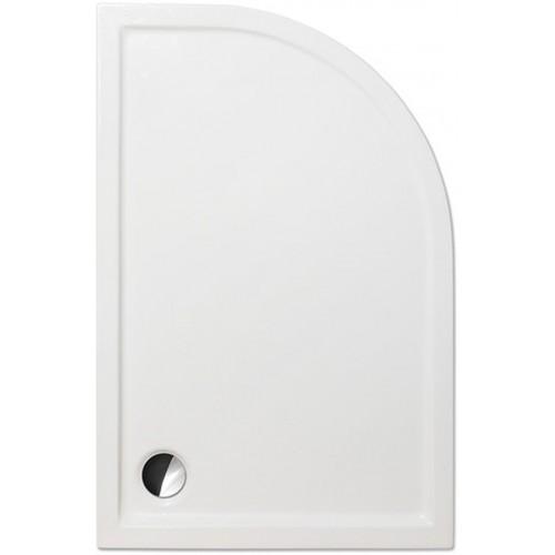 ROLTECHNIK Čtvrtkruhová asymetrická sprchová vanička FLAT ASYMMETRIC/1200x800, levá 8000245