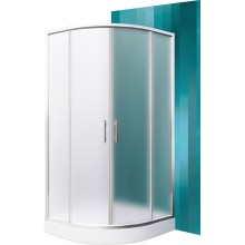 ROLTECHNIK Čtvrtkruhový sprchový kout s dvoudílnými posuvnými dveřmi HOUSTON NEO/900 brillant/matt glass N0649