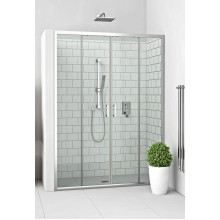 ROLTECHNIK Čtyřdílné sprchové dveře posuvné pro instalaci do niky LLD4/1500 brillant/transparent 574-1500000-00-02