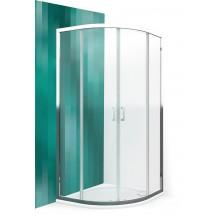 ROLTECHNIK Čtvrtkruhový sprchový kout s dvoudílnými posuvnými dveřmi LLR2/800 brillant/transparent 555-8000000-00-02