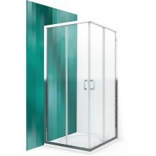 ROLTECHNIK Čtvercový sprchový kout s dvoudílnými posuvnými dveřmi LLS2/800 brillant/intimglass 554-8000000-00-21