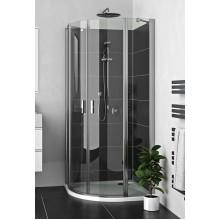 ROLTECHNIK Čtvrtkruhový sprchový kout s dvoukřídlými otevíracími dveřmi LZR2/1000 brillant/transparent 225-1000000-00-02