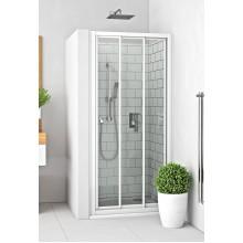 ROLTECHNIK Sprchové dveře posuvné s oboustranným vstupem pro instalaci do niky PD3N/800 bílá/rugiada 413-8000000-04-16