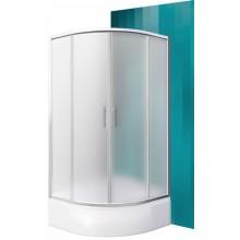 ROLTECHNIK Čtvrtkruhový sprchový kout s dvoudílnými posuvnými dveřmi PORTLAND NEO/900 brillant/matt glass N0657