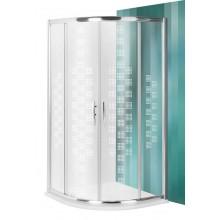 ROLTECHNIK Čtvrtkruhový sprchový kout s dvoudílnými posuvnými dveřmi PXR2N Design Plus/900 brillant/transparent 532-900R55N-00-17
