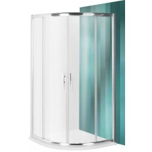 ROLTECHNIK Čtvrtkruhový sprchový kout s dvoudílnými posuvnými dveřmi PXR2N/800 brillant/satinato 531-800R55N-00-15