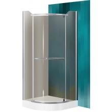 ROLTECHNIK Čtvrtkruhový sprchový kout s jednokřídlými otevíracími dveřmi DENVER/900 stříbro/rauch N0269