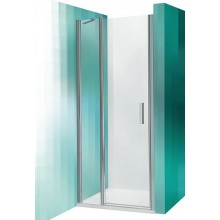 ROLTECHNIK Sprchové dveře jednokřídlé do niky TDN1/1000 stříbro/transparent 726-1000000-01-02