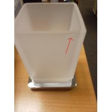 VÝPRODEJ SAPHO STRONG sklenka na zubní kartáčky, chrom R1323-04 PRASKLINKA