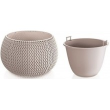 VÝPRODEJ PROSPERPLAST SPLOFY Bowl WS závěsný květináč 29 cm, antracit DKSP290WS BEZ LANKA