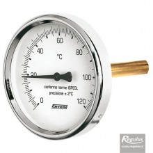 """REGULUS Teploměr 0-120°C s jímkou ( l= 45, 1/2""""), zadní, d=63 mm ; 10473"""