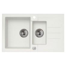 ALVEUS ROCK 70 granitový kuchyňský dřez 780x480 mm, bílá