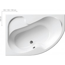 RAVAK Vana Rosa 150 x 105 L snowwhite CK01000000