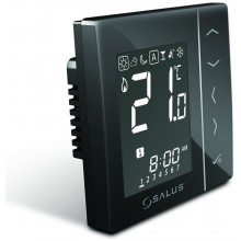 SALUS VS10BRF Bezdrátový termostat 4v1, černý, podomítkový