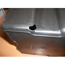 VÝPRODEJ SAPHO SIMPLE LINE odpadkový koš hranatý 30l, leštěná nerez GAQ030, PROMÁČKLÝ, PRASKLÁ NÁDOBA