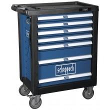 SCHEPPACH TW 1000 - dílenský vozík s nářadím, 7 zásuvek, 263 dílů 5909304900