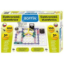 Stavebnice Boffin 100 elektronická 100 projektů na baterie 30ks v krabici 54001017