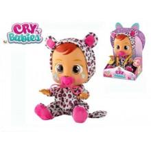 Cry Babies Lea 30cm miminko ronící slzy plast na baterie se zvukem v krabičce
