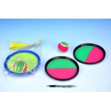 Lambáda/Catch ball hra 20cm, v sáčku, růžovo-zelená