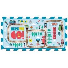 Pěnové puzzle Tomáš a přátelé/Disney 8ks 32x32x1,5cm v sáčku 2+