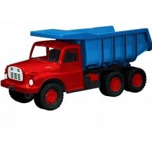 Auto Tatra 148 plast 73cm - červená kabina, modrá korba