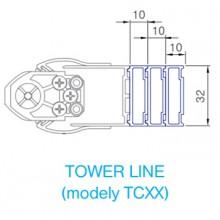 ROLTECHNIK nastavovací profil pro TCxx, 10/2000 mm, brillant P3063