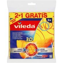 VILEDA Univerzální hadřík s ionty stříbra 2+1 144826